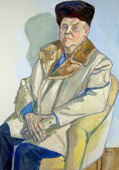 Gus Hall 1981 - by Alice Neel