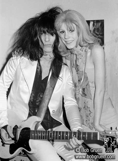Johnny Thunders and Sable Starr 1974 by Bob Gruen