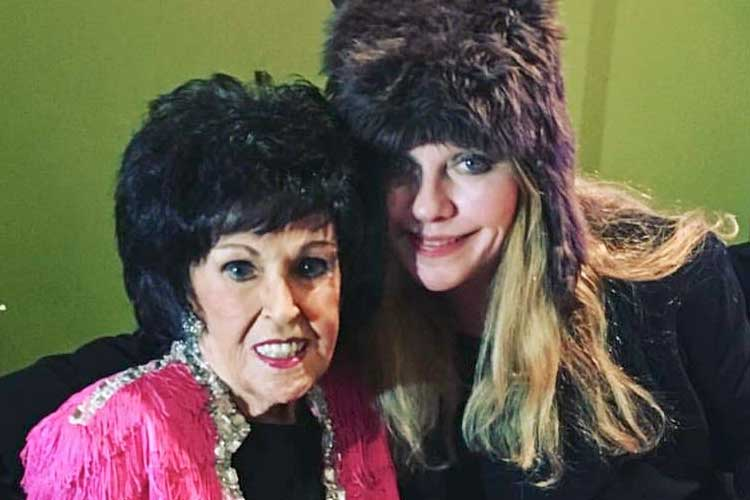 Wanda Jackson and Bebe Buell - courtesy of Bebe Buell