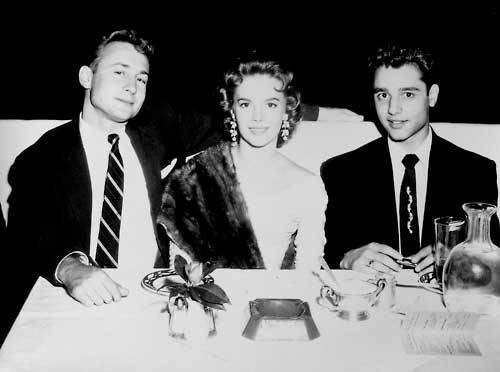 Rebel Without a Cause actors: Nick Adams, Natalie Wood and Sal Mineo.