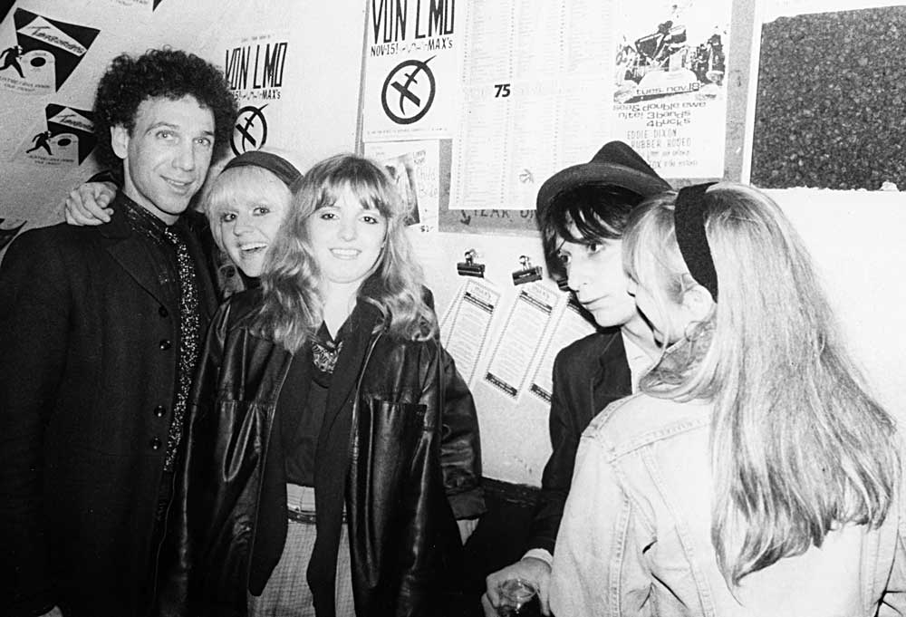 Bob Gruen and Johnny Thunders with The B-Girls