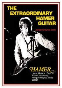 James Honeyman Scott in a Hamer guitar ad