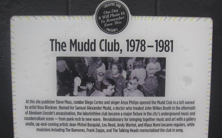Mudd Club Plaque - Photo credit: CC Wikimedia Commons - user Wickkey