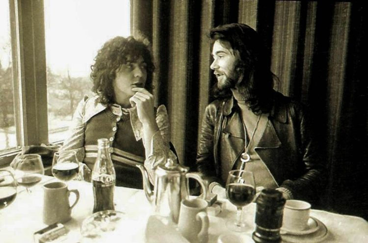 Marc Bolan & BP Fallon, London 1970. Photo by Barrie Wentzell/Melody Maker