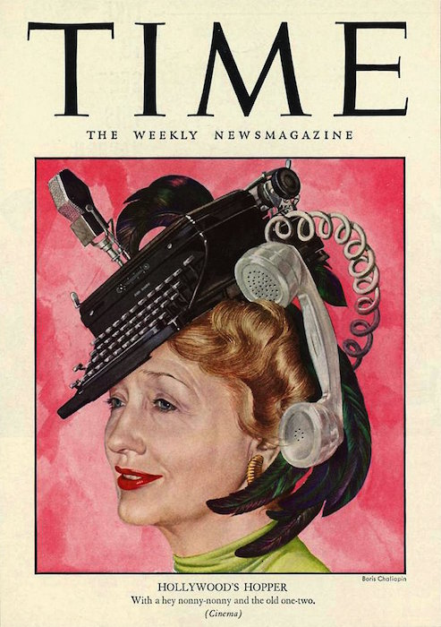 Hedda Hopper's cover of Time