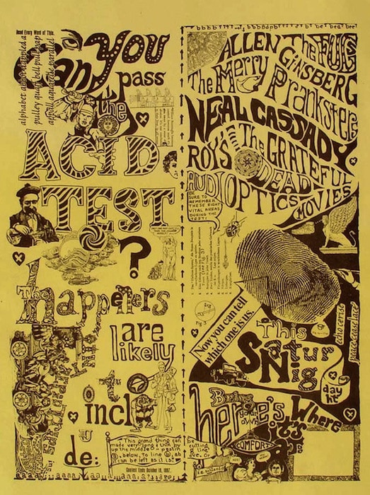 Original 1965 Acid Test Flyer