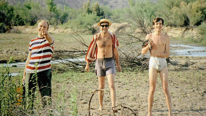 Left to right: Ken Kesey, Ken Babbs, Sandy Lehmann-Haupt. Image courtesy of CathodeRayTube.