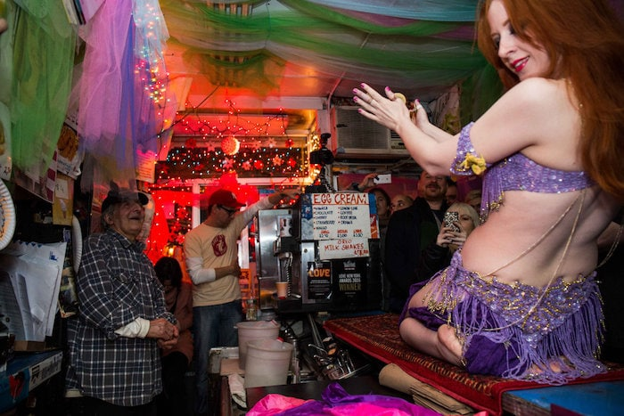 Ray's Candy Store Belly Dancer 84th birthday by Scott Lynch Gothamist