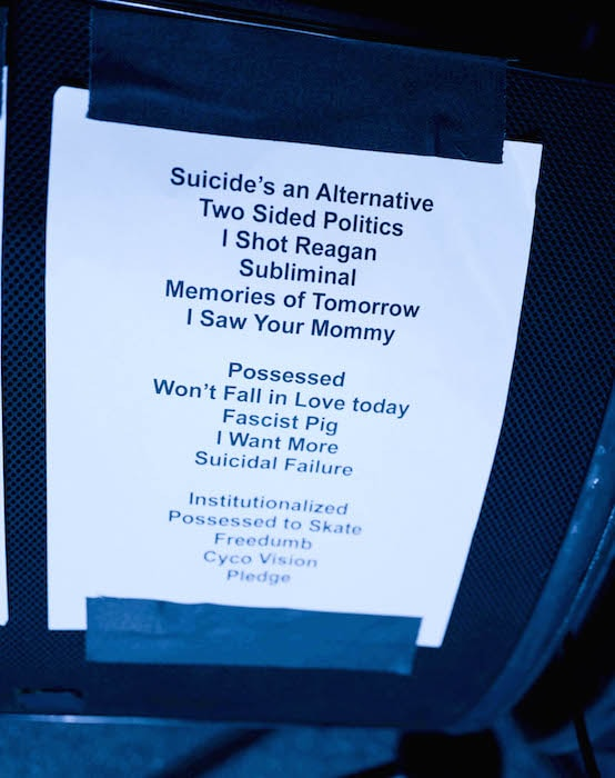 Set List, photo Rick Casados