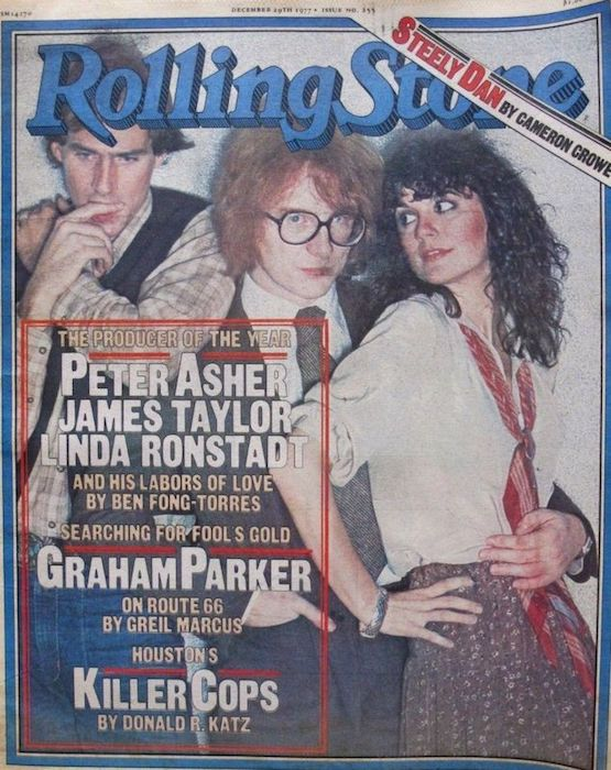 Peter, JT and Linda Ronstadt on the cover of Rolling Stone
