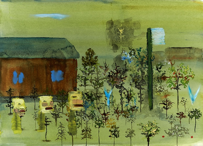 When the giant toothbrush appeared at the edge of town, no one was sure if it was a sign from God or just one of those weird things that happen. By John Lurie.