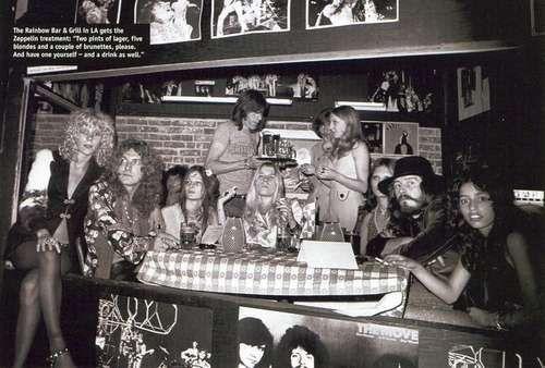 Morgana, center, with Robert Plant and Sabel Star (l) John Bonham and Lori Lightning (r) at English Disco, photo Richard Creamer