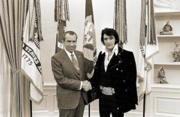 Elvis and President Richard Nixon, from The National Photo Archives