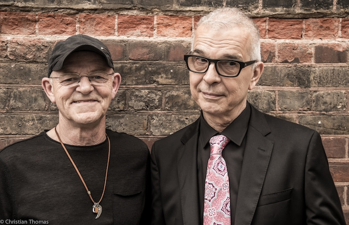 Woody Woodmansey and Tony Visconti, by Christian Thomas
