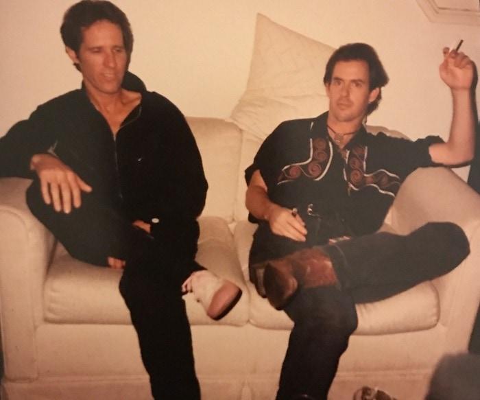 John Densmore and Derf, photo courtesy of Nora Novak