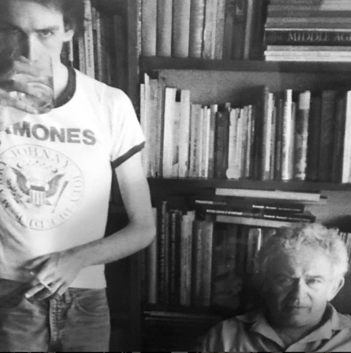 Norman Mailer and Legs McNeil - by Victor Bockris