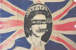 Poster for The Sex Pistols' single 'God Save The Queen', Jamie Reid, May 1977. Image courtesy of The Mott Collection. Artwork by Jamie Reid courtesy John Marchant Gallery.