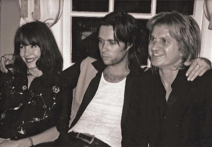 Pamela Des Barres, Kip Brown, and Rufus Wainwright