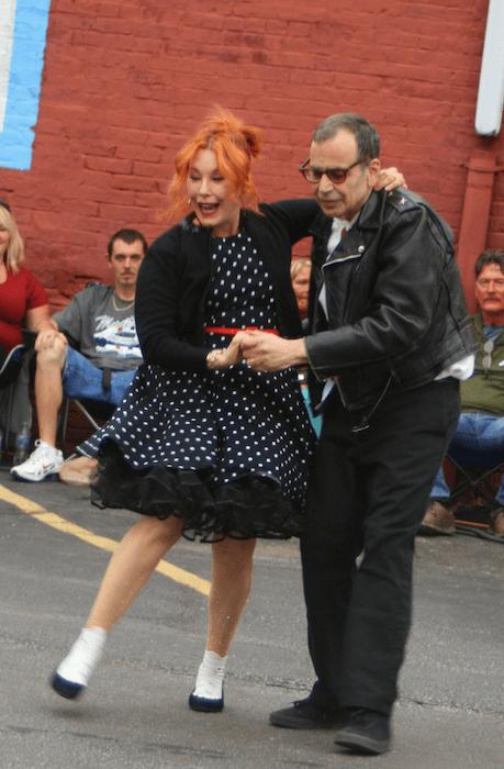 Pamela dancing with Lenny