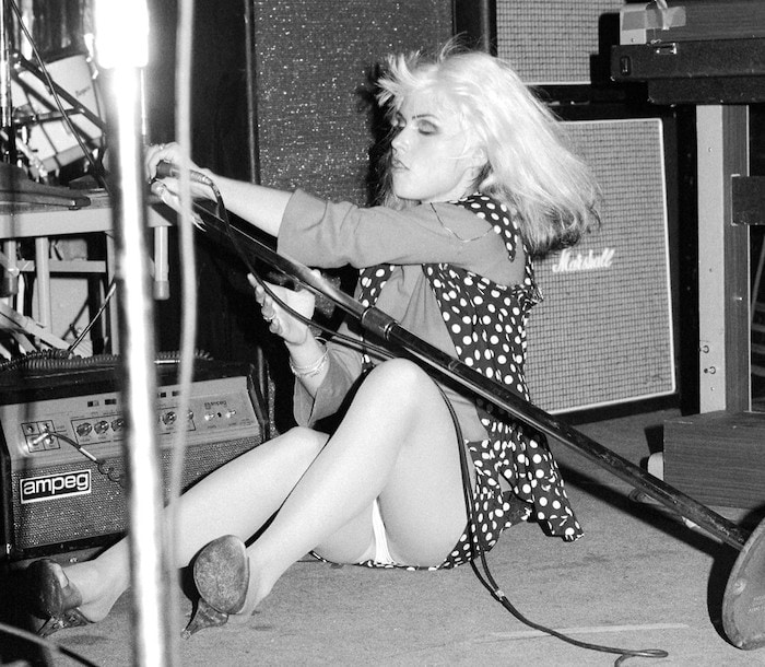 Debbie Harry during Blondie's LA debut at The Whisky, Feb. 1977