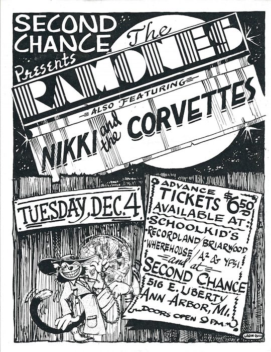 Flyer for a gig with The Ramones, Dec. 4, 1979