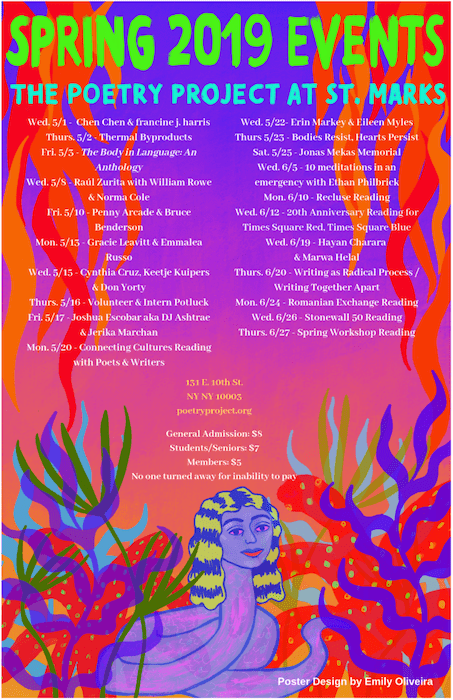 Spring 2019 poster of events
