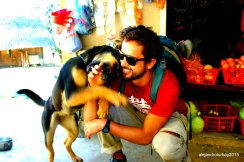 I REALLY miss Titan, my dog back home. I don't miss a chance to play with a dog or animal