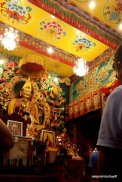 During teachings inside the Gompa, or main temple