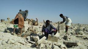 Salt workers. Danakil Depression. Ethiopia