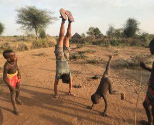 Teaching kids handstands