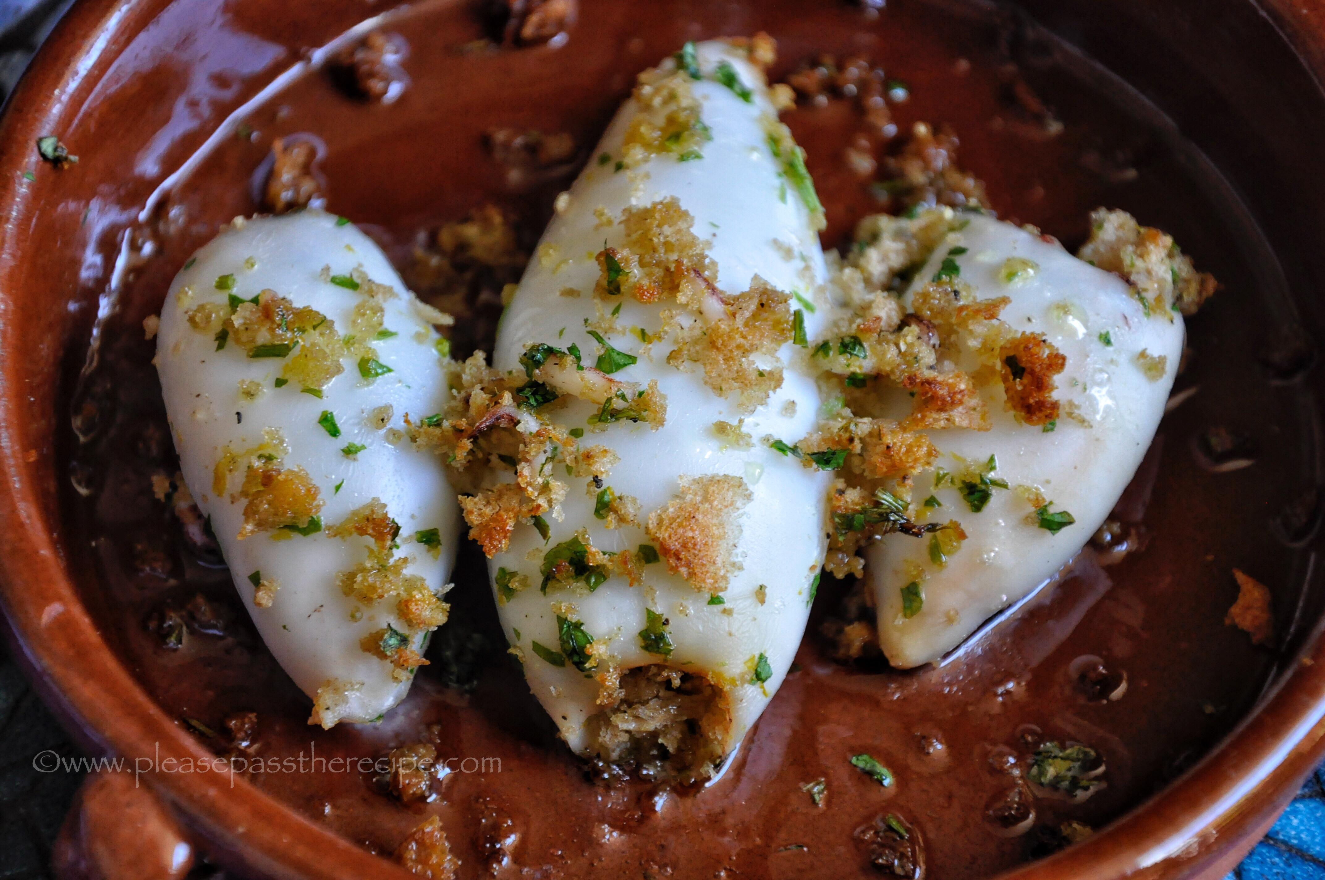 Baked Stuffed Calamari  Please Pass the Recipe
