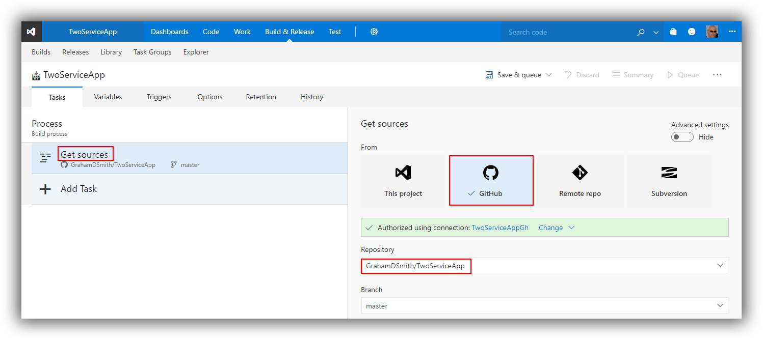 Continuous Delivery with Containers - Azure CLI Command for