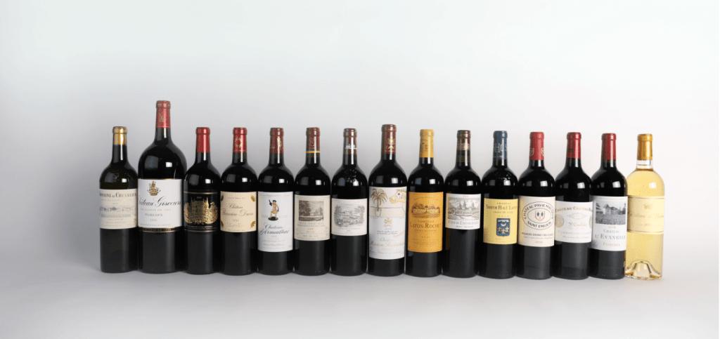 Duclot vins carte sur table