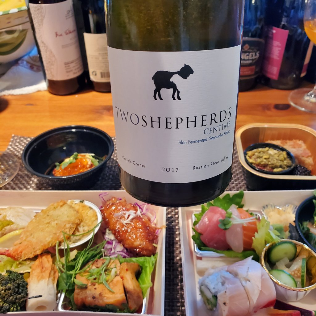 Please The Palate Wine of the Week: Two Shepherds 2017 Centime Skin Fermented Grenache Blanc, Catie's Corner, Russian River Valley