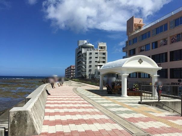 北谷の宮城海岸の遊歩道