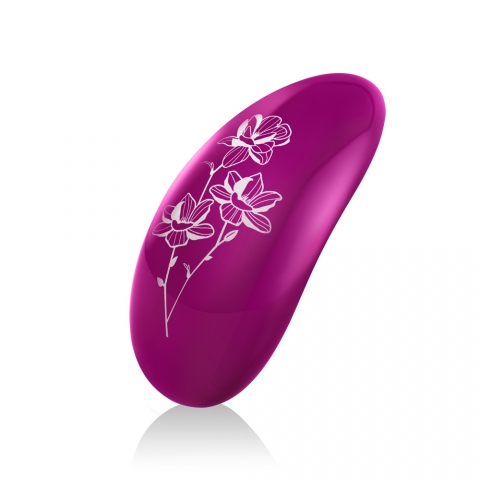 Pink Lelo Nea version 2 back view with white floral design
