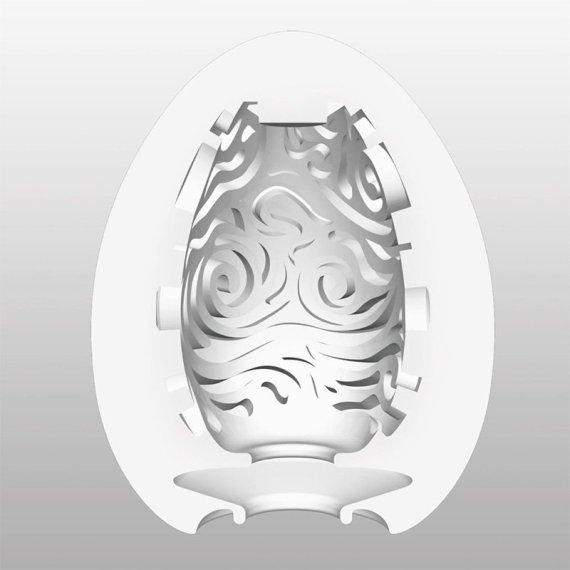 Tenga Egg Cloudy masturbation sleeve with curling internal ridges