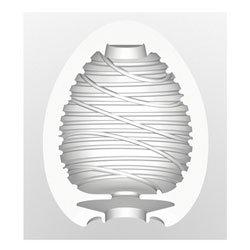 Tenga Egg Silky masturbation sleeve with swirling ridges on its internal surface