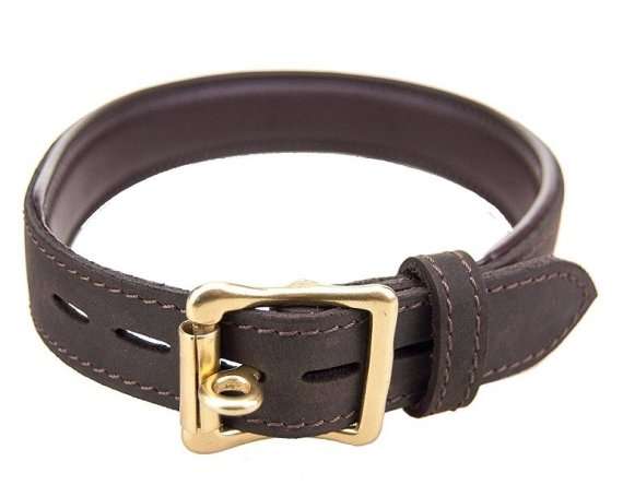 Leather Bound Nubuck Choker with lockable buckle