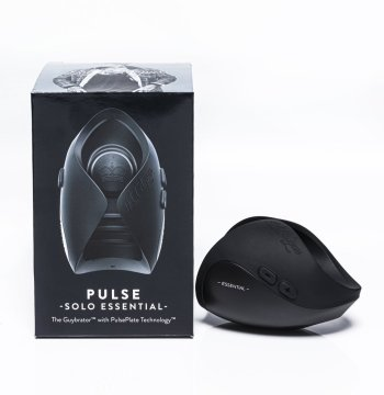 Hot Octopuss Pulse Solo Essential masturbation sleeve next to its box