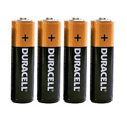 Four Duracell batteries