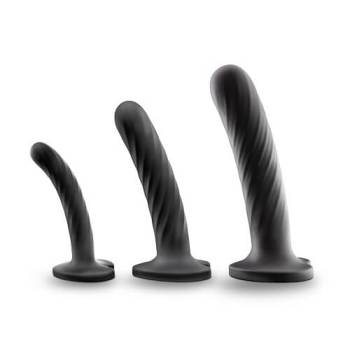 Set of three Temptasia Twist silicone dildos - small, medium and large