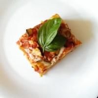 Vegetarian lasagna with Bechamel sauce/Vegetariška lazanija su Bešamel padažu