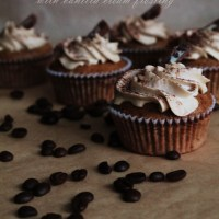 Coffee cupcakes filled with nutella/Kavos keksiukai su nutella