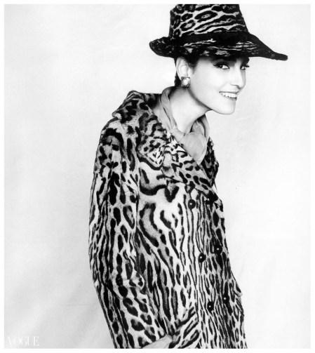 Benedetta Barzini In Ysl For Paris Vogue 1964