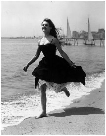 Running Barefoot Sands Cannes French Film Star