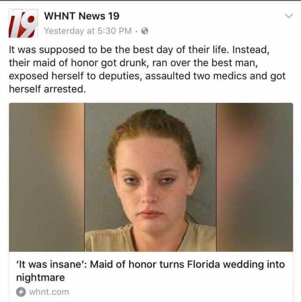 florida maid of honor fail, maid of honor fail
