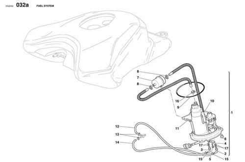 Ducati Fuel Pump O-Ring seal will fit 749 999 88650331A