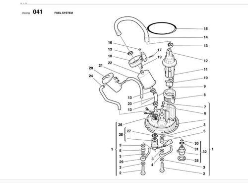 Ducati Fuel Pump ORing 916, 748, 996, 998, ST2, ST3, ST4