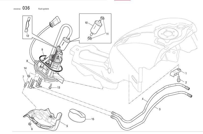 Ducati Fuel Pump O-Ring seal MS SportClassic SF 88650481A